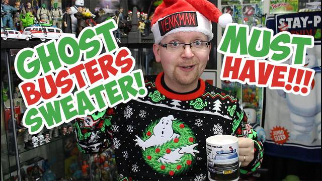 New Ghostbusters Ugly Christmas Sweater is a must have for any fan!