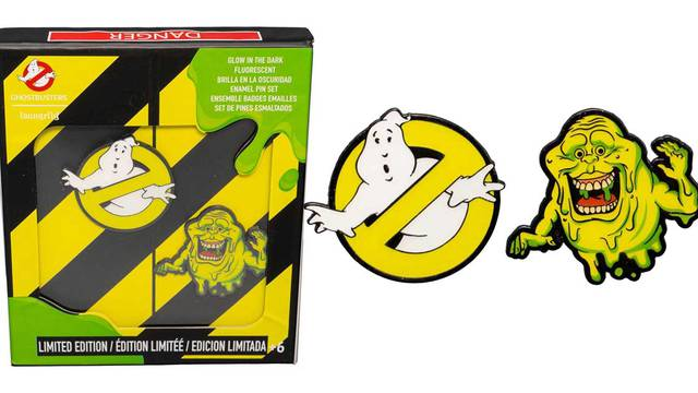 New glow-in-the-dark Ghostbusters pin set revealed!