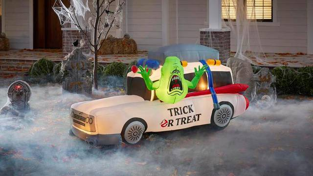 New images of upcoming inflatable Ghostbusters Ecto-1 decoration
