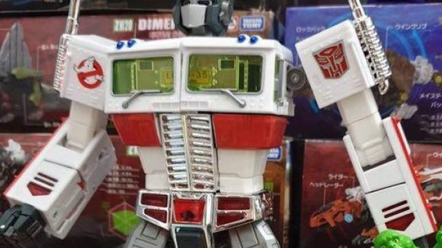 Possible first look at Ghostbusters Collaborative MP-10 Optimus Prime - seibertron.com