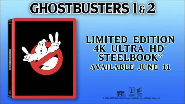 Pre-orders now live for upcoming Ghostbusters 4k Ultra HD Steelbook!