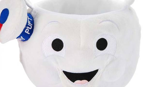 Spirit Halloween adds Stay Puft Marshmallow Man Plush Bucket to Ghostbusters line