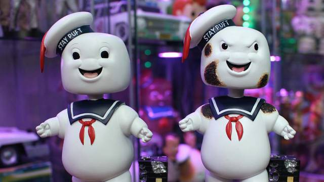 Stay Puft Marshmallow Man Bobbleheads! (unboxing + review)