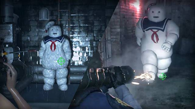 Stay Puft Marshmallow Man is both adorable and horrifying in Resident Evil 2 mod