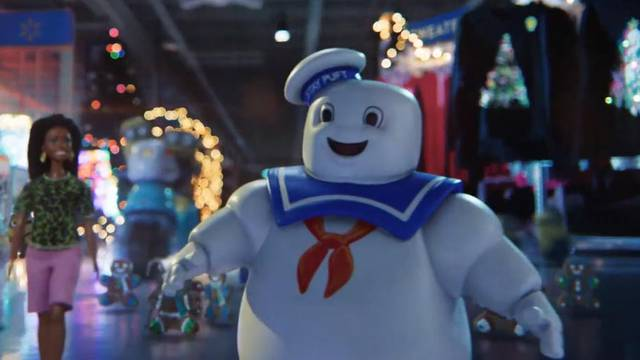The Stay Puft Marshmallow Man featured in Walmart's new holiday commercial