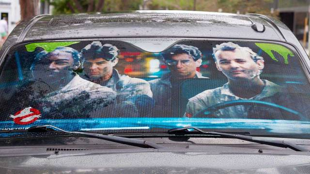 There's now a Ghostbusters themed sun shade for your car windshield