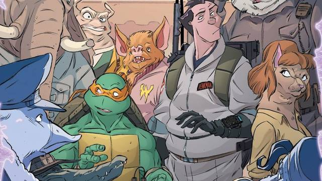TMNT/Ghostbusters II #4 review: Mingling proton power with Turtle power