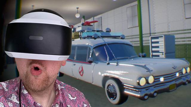 Touring the Ghostbusters firehouse in VR!