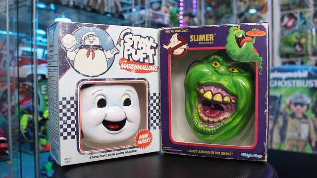 Unboxing Stay Puft & Slimer Ghostbusters Mini Masks!
