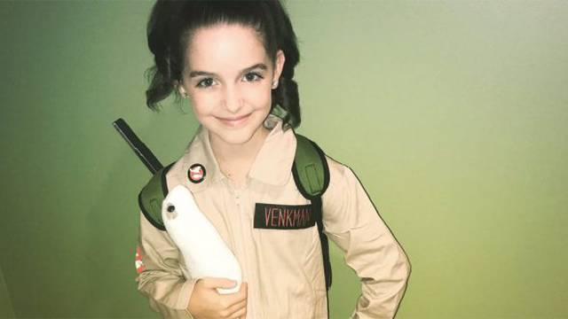 Upcoming Ghostbusters film star Mckenna Grace once dressed as a Ghostbuster for Halloween