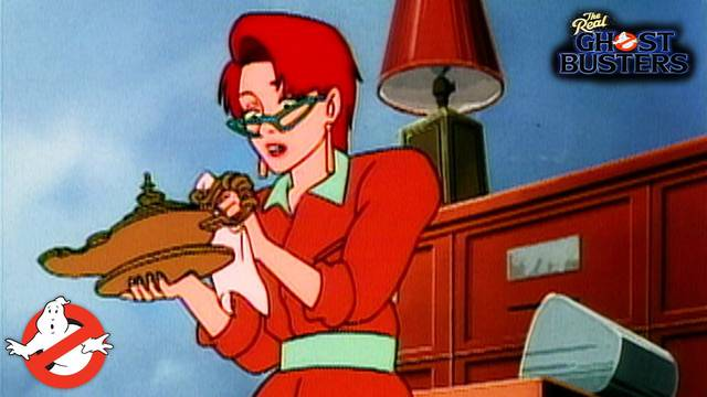 """Watch the classic Real Ghostbusters episode """"Janine's Genie"""""""