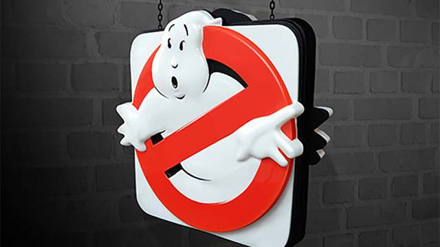 You can now finally own a replica Ghostbusters sign