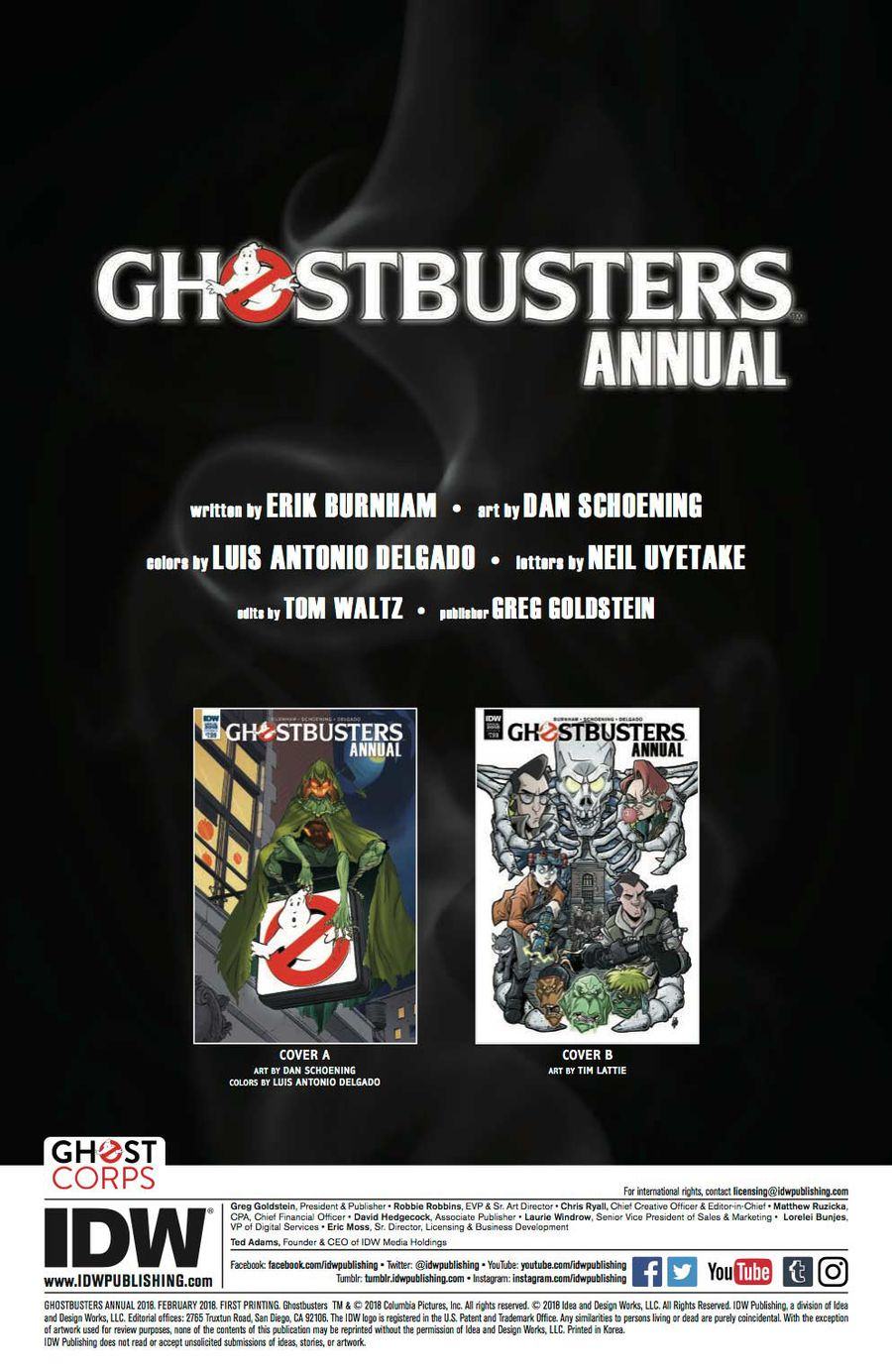 Ghostbusters Annual 2018 Page 1